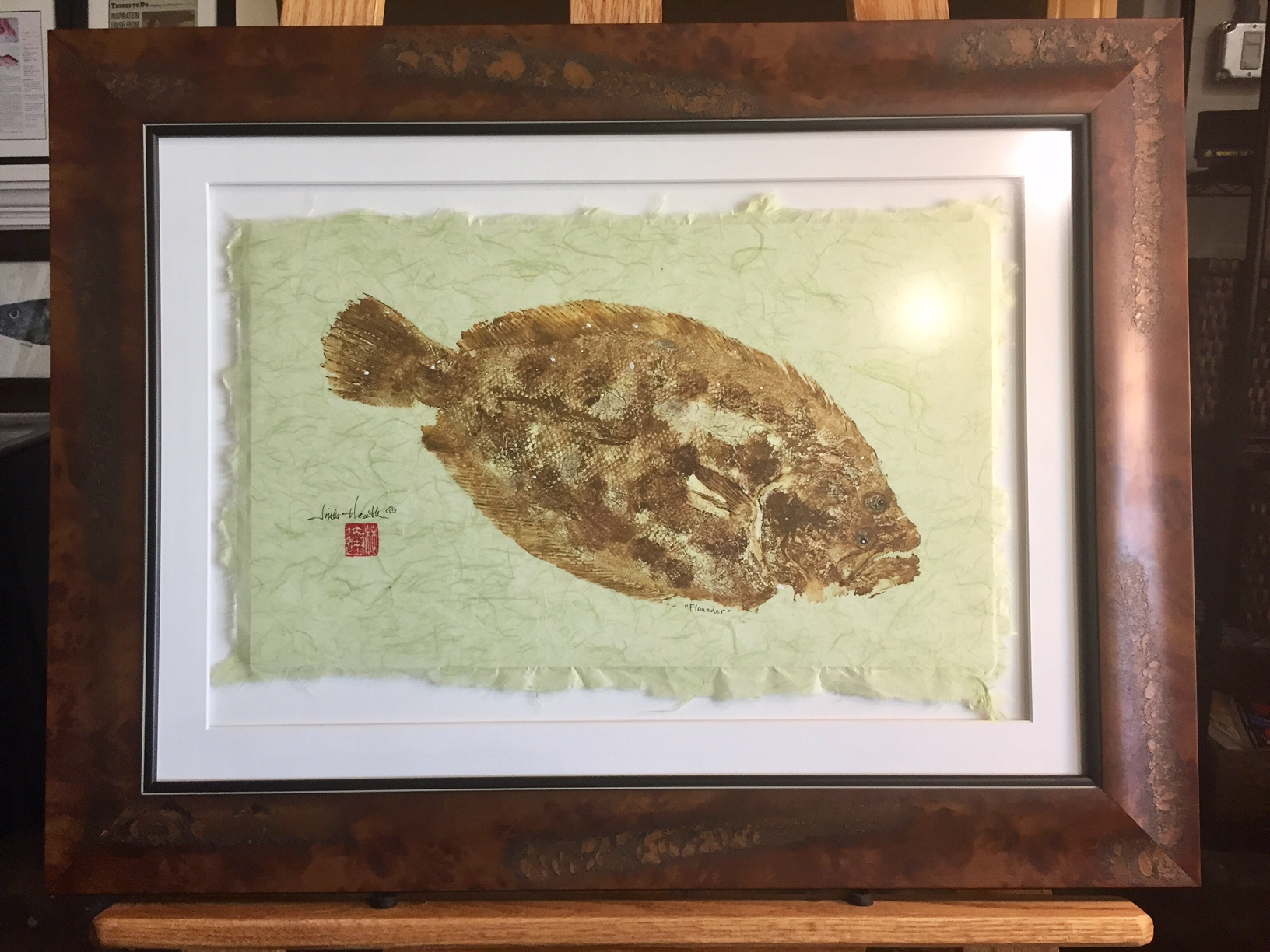 Original Flounder by Linda Heath
