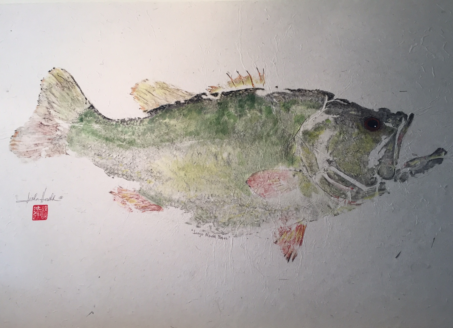Original Large Mouth Bass by Linda Heath