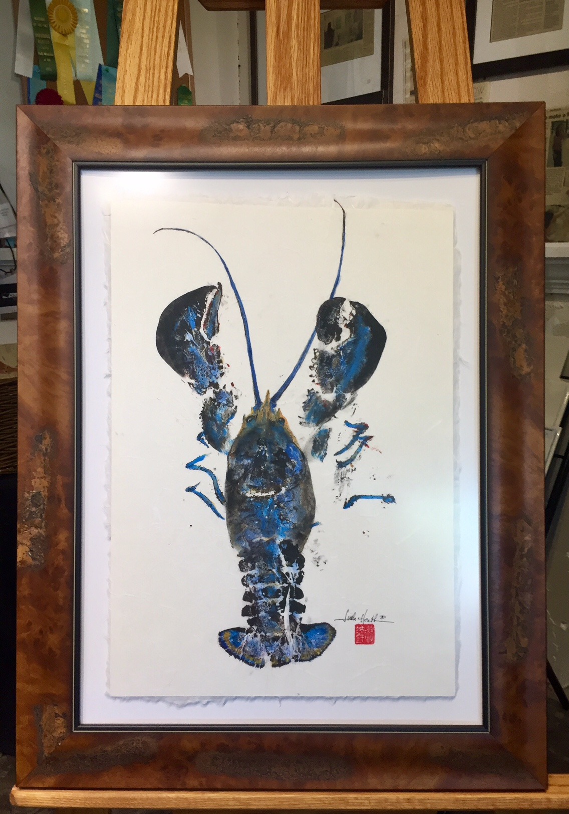 Original Gyotaku Maine Lobster