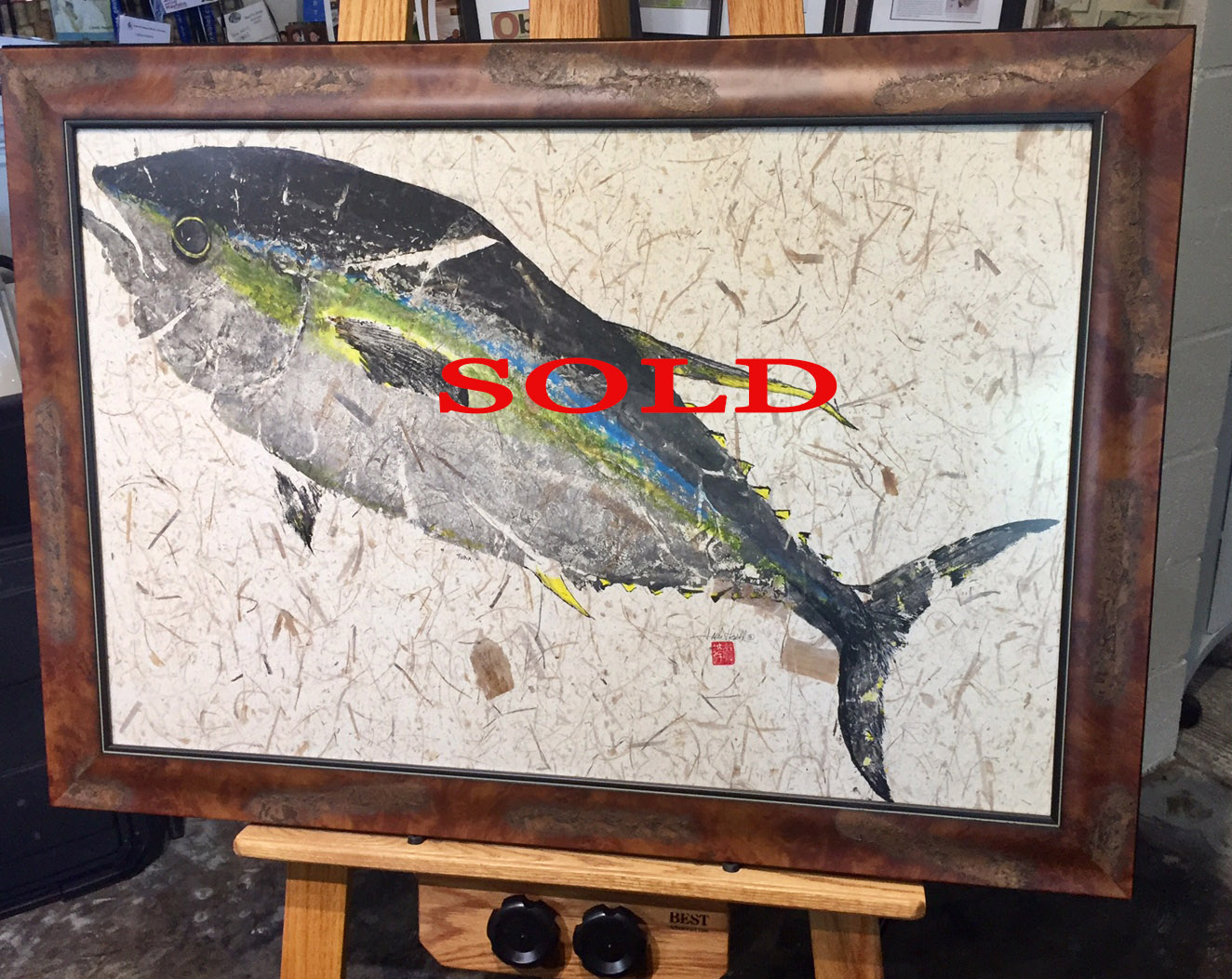 Original-Gyotaku-Tuna
